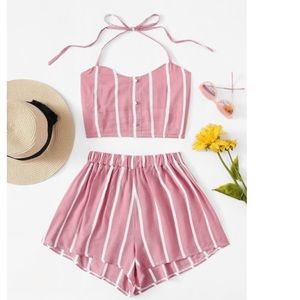 Other - Cute Pink and white 2 piece set